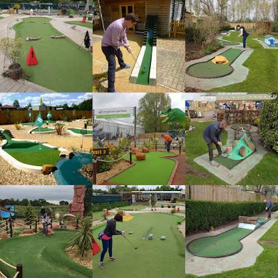Garden centre minigolf courses
