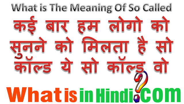 so-called wife meaning in hindi