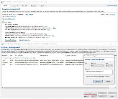 Bitvise SSH Server - Keypair management