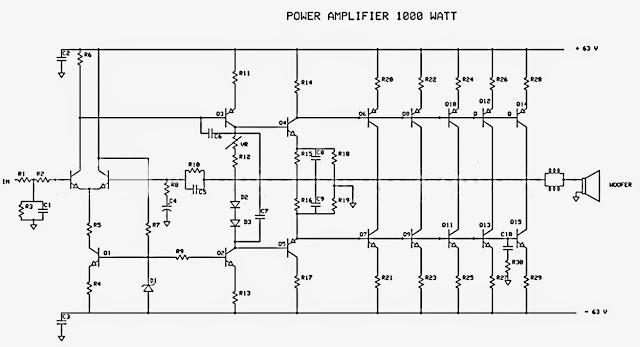 Rangkaian Amplifier 1000 Watt