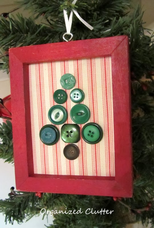 A Re Purposed Christmas Tree Frames And Buttons Organized Clutter