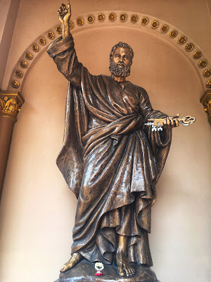 statue of Saint Peter at Assumption Cathedral