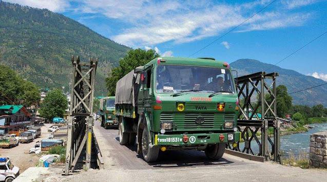 Indian Army convoy in ladakh