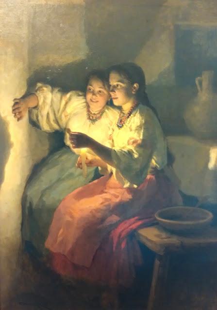 Н.К. Пимоненко Святочные гадания, 1888 г.