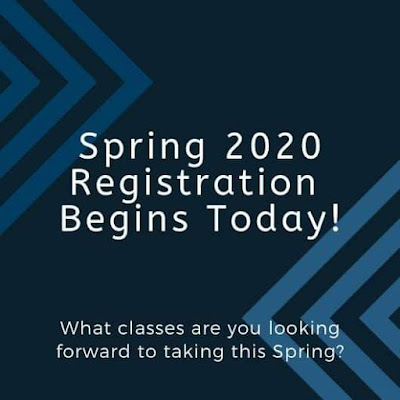 Spring 2020 Registration Begins Today!