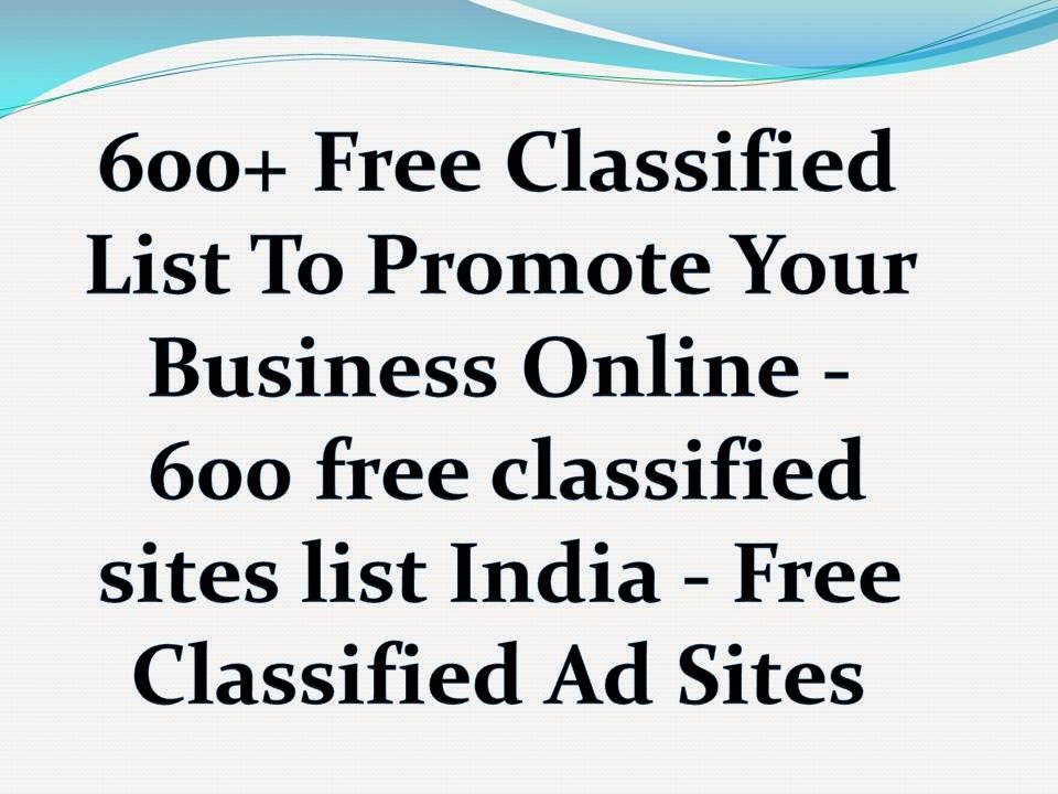 Top 600+ Free Classifieds Submission Sites List 2019 | High