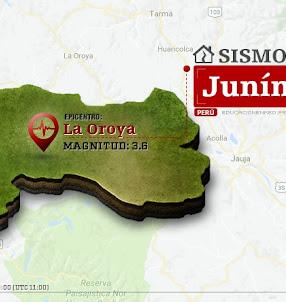 Temblor en Junín de 3.6 Grados (Hoy Domingo 24 Septiembre 2017) Sismo EPICENTRO La Oroya - Yauli - IGP - www.igp.gob.pe