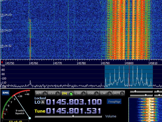 SSTV signal Spectrum at HDSDR