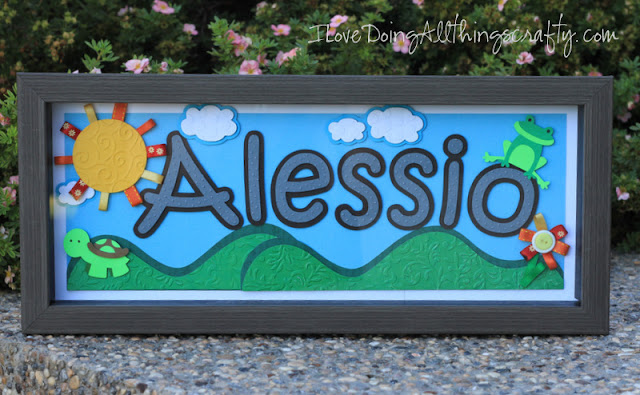 Personalized Frame | Paper Pieced Baby Decor
