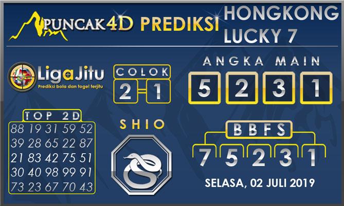 PREDIKSI TOGEL HONGKONG LUCKY7 PUNCAK4D 02 JULI 2019