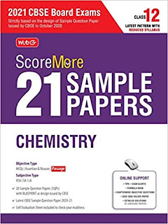 MTG Score More 21 Sample Papers Chemistry For CBSE Board Exam 2021[PDF]