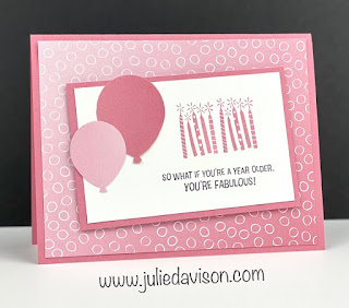 Stampin' Up! Sale-a-Bration Approaching Perfect Ombre Birthday Cards + VIDEO tutorial ~ www.juliedavison.com #simplestamping #stampinup #saleabration #sab2021