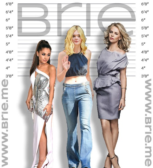 Ariana Grande, Elle Fanning, and Charlize Theron height comparison