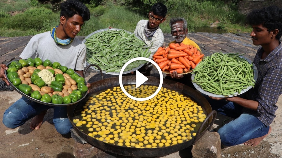 KING of Vegetable SCRAMBLED EGG Prepared by my daddy Arumugam / Village food factory