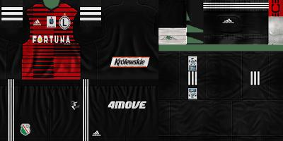 PES 6 Kits Legia Warszawa Season 2018/2019 by GoofyOG