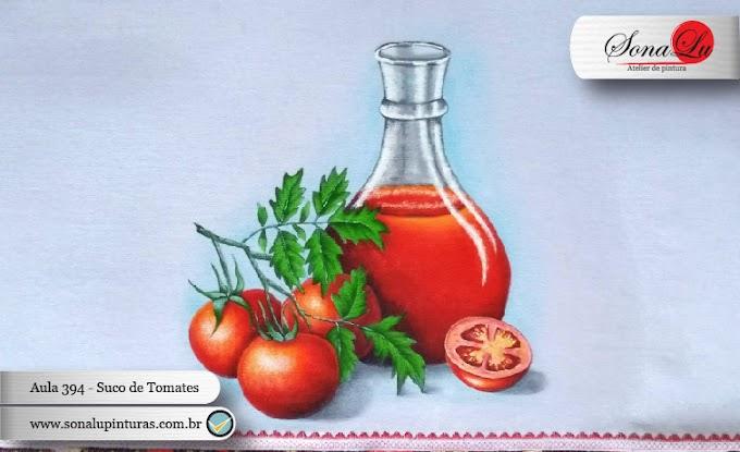 Aula 394 - Jarra com Suco de Tomate