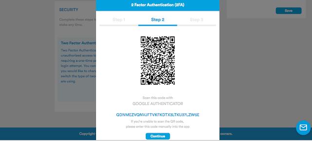 Pindai barcode dengan Google Authenticator Apps