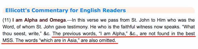 The Alpha and the Omega in Revelation 1:11. ANOTHER MASSIVE TRINITARIAN DECEPTION.