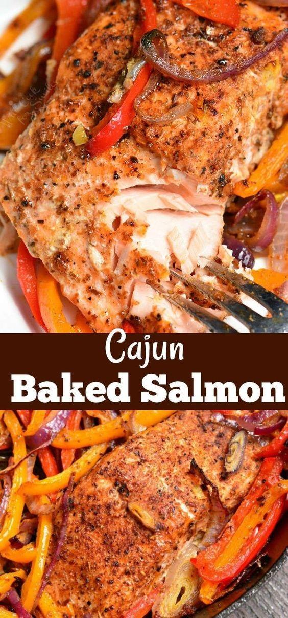 Cajun Baked Salmon