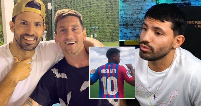 Aguero open up on refusal to take up Messi's no.10 at Barca