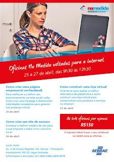 Convite SEBRAE RJ - Combo Internet Na Medida - oficinas em Teresópolis RJ