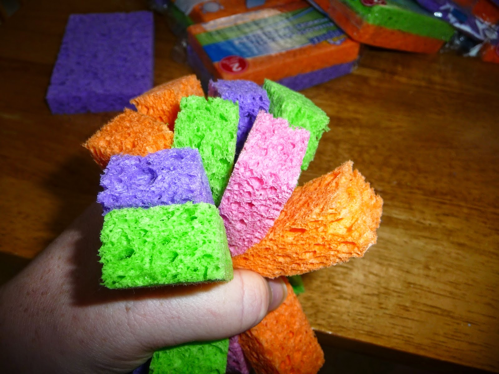 sponge bombs are the water balloon fight alternative, easy to make and easy to clean up water balloon fight alternative, sponge bombs,