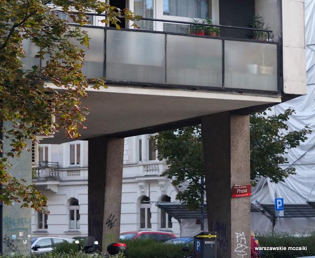 wspornik Warszawa Warsaw modernizm modernism architektura architecture lata 60 Jerzy Gieysztor Jerzy Kumelowski luksus balkony mozaika