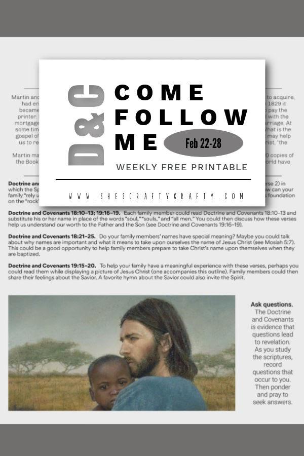 Come Follow Me Free Printable D&C 18-19- pinnable image