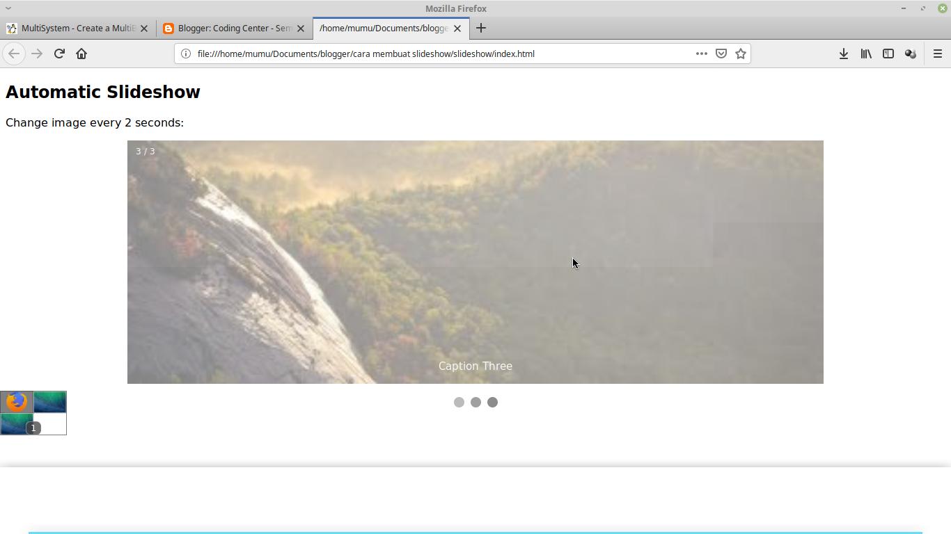 Cara membuat slideshow dengan HTML,CSS, dan Javascript