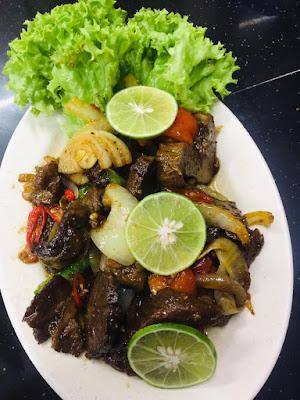 daging goreng assam limau bazar ramadan kota bharu