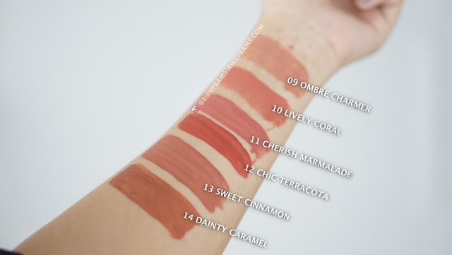 swataches Wardah Earthy Collection Velvet Matte Lip Mousse Punya 6 Shades Baru - ririeprams