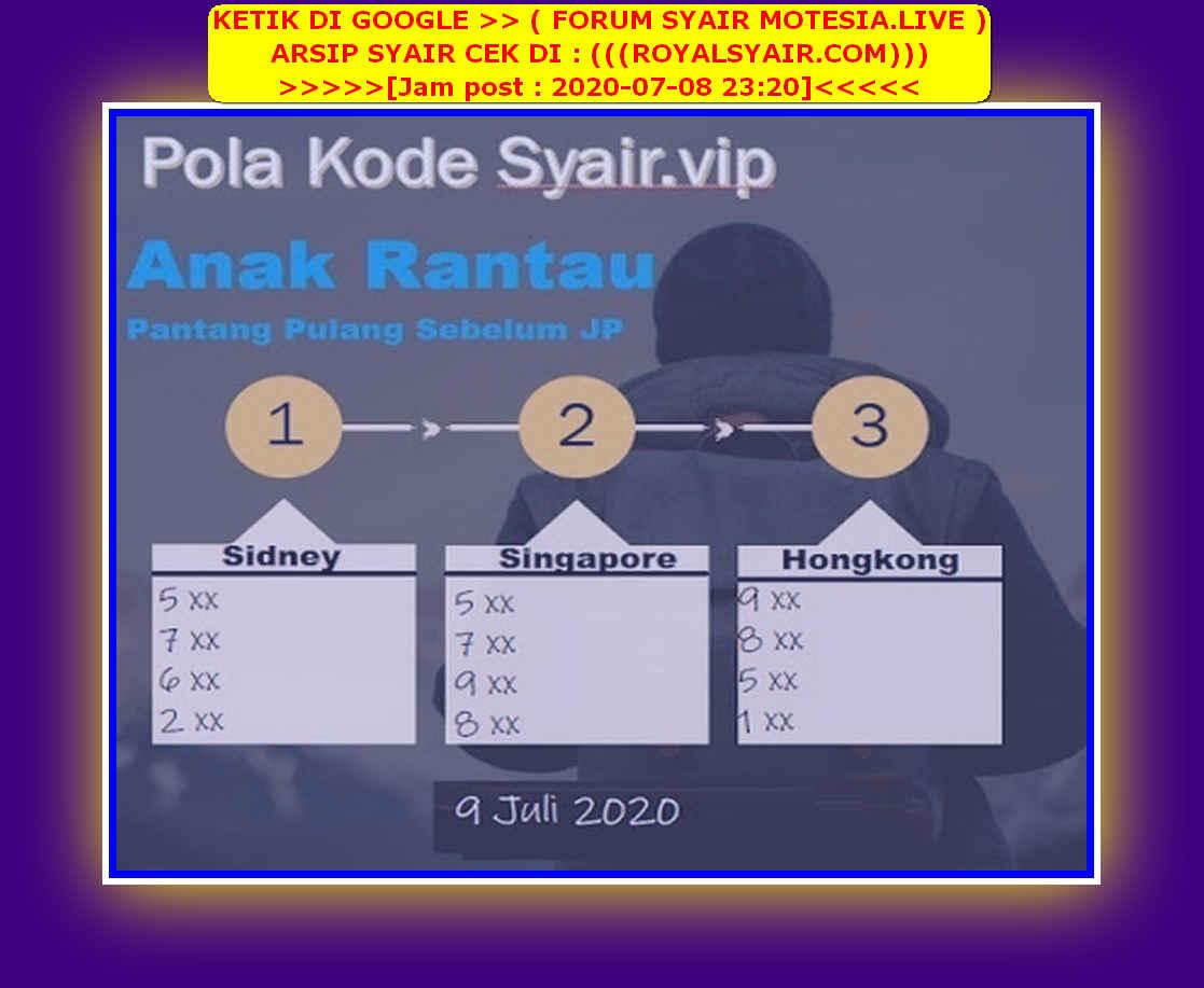 Kode syair Singapore Kamis 9 Juli 2020 232