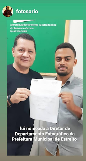 Prefeito Léo Cunha inova e nomeia Diretor Fotográfico!!!