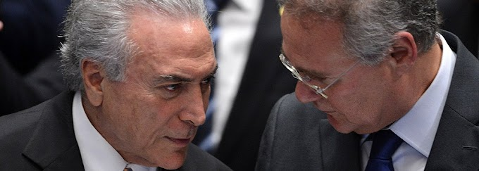 RENAN DIZ QUE TEMER SAI DO GOVERNO ANTES DELE SAIR DA LIDERANÇA DO PMDB