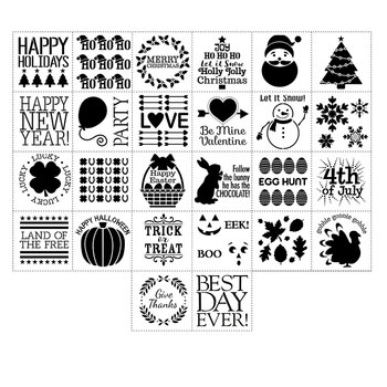 the folkart stencil pack contain about 26 paper stencils the pros the packs contain a lot of stencils and they are well worth the money