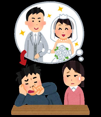 結婚後に豹変した夫のイラスト