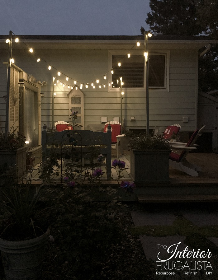 Budget Friendly Deck Makeover Reveal String Lights4