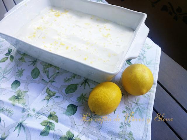Tarta de galletas y crema de limón sin horno