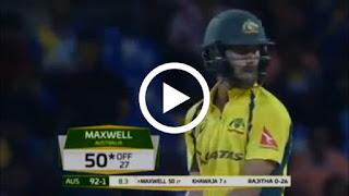 Glenn maxwell 145 (65) vs sri lanka 1st t20
