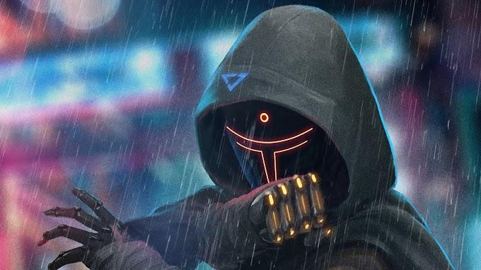 Papel de Parede HD Ninja Cyberpunk