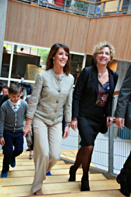 Princess Marie has participated in the re-launch of the education portal EMU at the Hellerup School in Hellerup