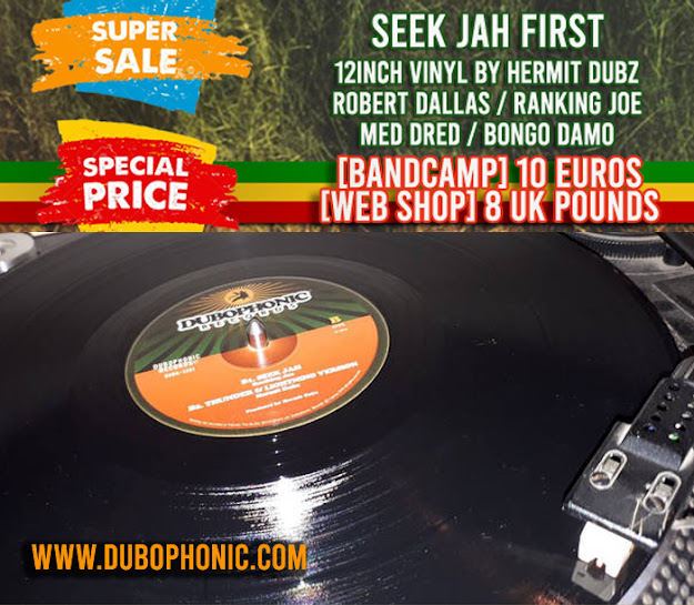 SPECIAL VINYL OFFER: Seek Jah First - Hermit Dubz / Robert Dallas / Ranking Joe / Med Dred / Bongo Damo / Dubophonic Records Cyprus