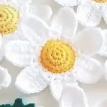 Flor Blanca a Crochet