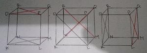 salinan gambar kubus KLMN.OPQR yang berbeda www.jawabanbukupaket.com