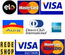 Aceitamos cartões de créditos