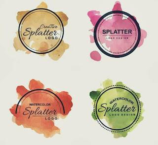 Desain Logo Olshop Splatter