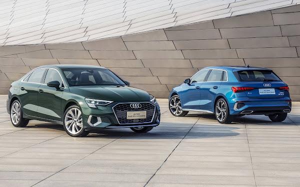 Novo Audi A3L Sedã China e Sportback