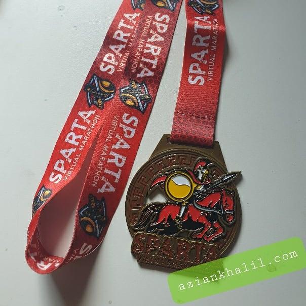 Medal dan T-shirt Sparta Virtual Marathon Jom Run