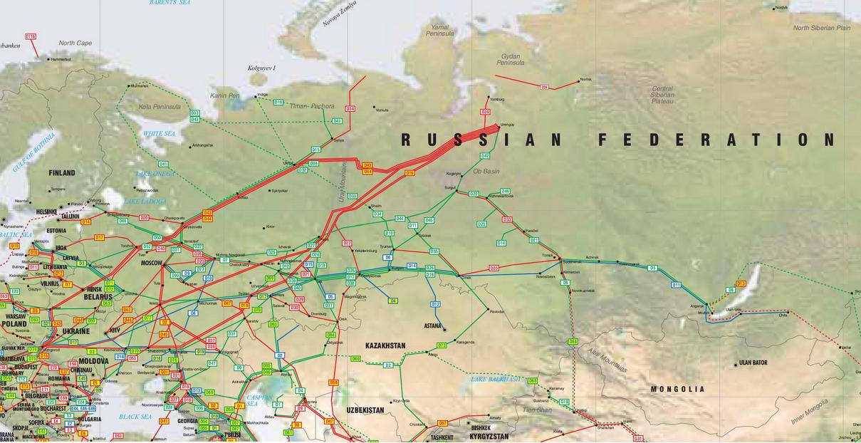 Russia Ukraine Pipelines Network