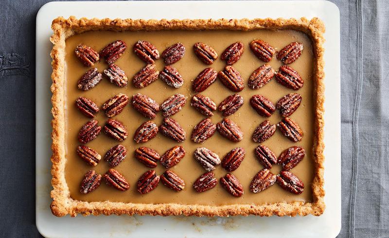 Butterscotch Pie with Pecan-Shortbread Crust